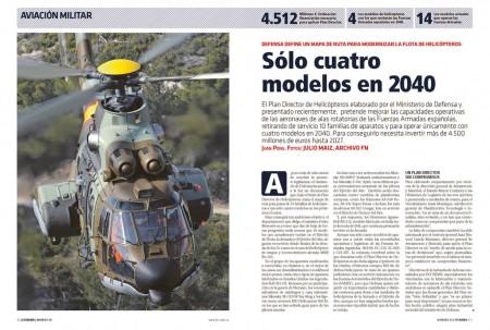 Las Fuerzas Armadas españolas cuentan hoy con 12 modelos que se quieren reducir a cuatro en el futuro.