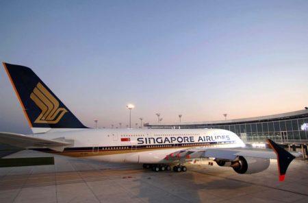 El A380 msn003 el día de su entrega a Singapore Airlines en Toulouse como 9V-SKA