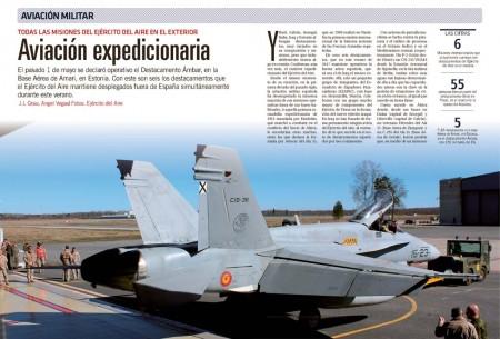 Desde las frías tierras de las repúblicas bálticas al las calurosas del desierto, el Ejército del Aire cumple su misión de defender la paz.