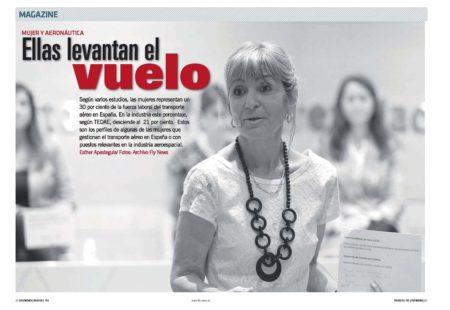Casi un tercio de los puestos de trabajo en el transporte aéreo español están ocupados por mujeres.