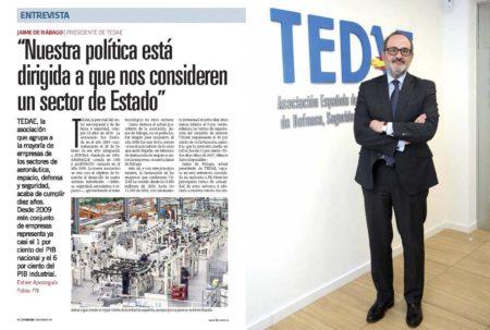 Hemos hablado con el presidente de TEDAE sobre los diez años de esta asociación.