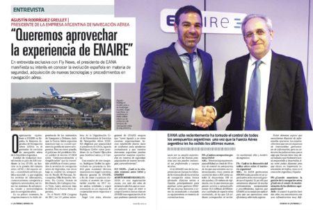 Agustín Rodriguez Grellet, máximo responsable de la gestión del espacio aéreo de Argentina apuesta por una estrecha colaboración con la española Enaire.