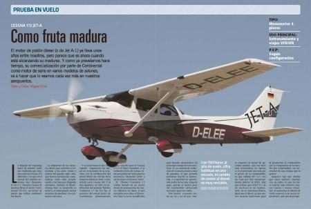 Probamos el Cessna 172 remotorizado con un motor diesel Contiental CD155.