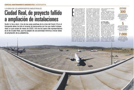 Los lamados aeropuertos industriales en España están ampiando sus pataformas para dar cabida a más aviones aparcados.