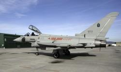 Eurofighter del Grupo 9 del Ala 4 de la Aeronáutica Militar de Italia.