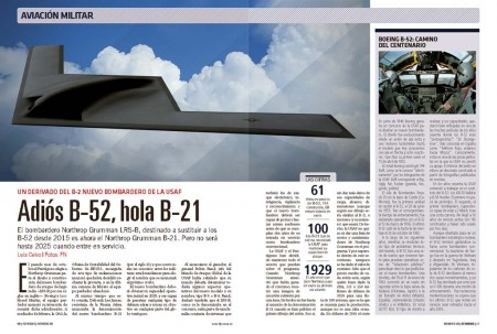 El B-21 es un derivado del B-2 que entrará en servicio hacia el año 2025.