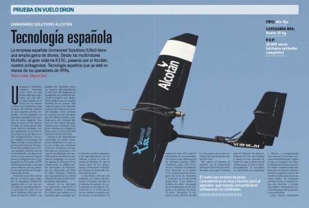 El Alcotán es un dron de ala fija de 3,5 kg de peso máximo al despegue.