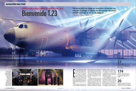 El nuevo avión de transporte del Ejército del Aire fue entregado de forma oficial justo antes de volar a su base en Zaragoza.