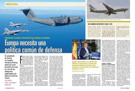 Fernando Alonso pidió de nuevo un plan estratégico para el sector aeroespacial y recalcó la necesidad de una política europea de defensa unificada.