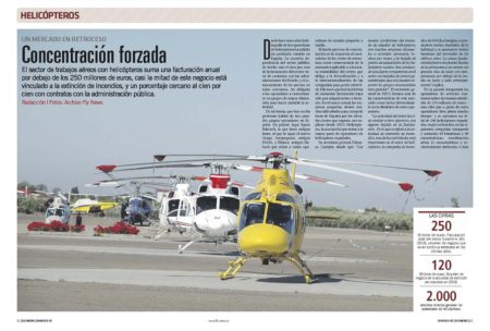 El sector de los helicópteros en España depende en gran medida de los contratos para la lucha contra los incendios forestales.