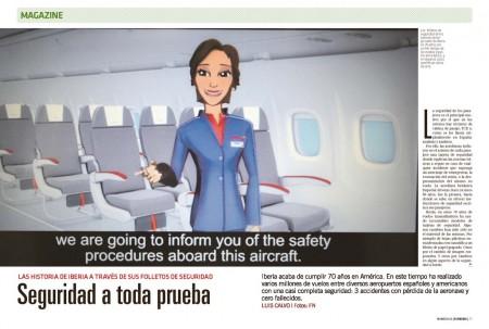 Repasamos los setenta años de Iberia en Latinoamérica a través de algunas de las tarjetas de seguridad de la aerolínea.