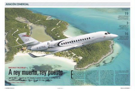 El Falcon 6X será el mayor avión ejecutivo por tamaño de su cabina de pasaje.