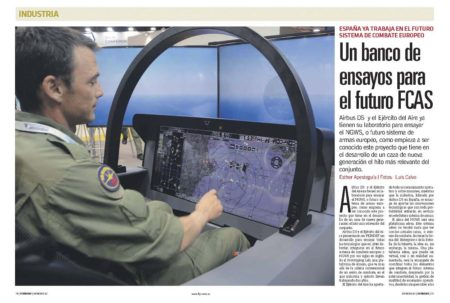Airbus ha presentado en FEINDEF el laboratorio con el que ya está trrabajando en el desarrollo del cockpit del FCAS.