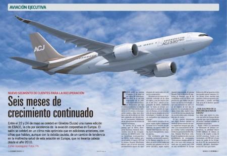 La aviación ejecutiva parece empezar a remontar en Europa, lo que por ejemplo a animado a Airbus a lanzar una versión para este mercado del A330neo.