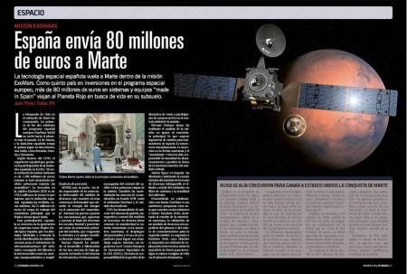 La industria española tiene una importante participación en la misión ExoMars.
