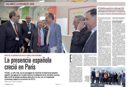 35 empresas formaron el pabellón español organizado por TEDAE en el salón de Le Bourget.