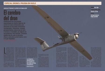 tripuladas como autopilotos, o cámaras giroestabilizadas. Pero también, utilizando plataformas de vuelo de terceros, ofrecen productos ya terminados, como el Super Skywalker.