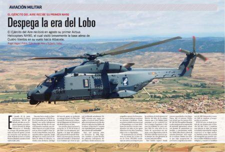 Airbus Helicopters ha llevado ya a sus instalaciones de Albacete el primer NH90 del Ejército del Aire, donde terminará su equipamiento y entregará.