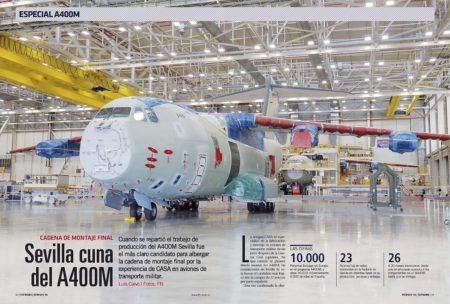 En estos diez años han salido un centenar de aviones de la cadena de montaje en Sevilla.