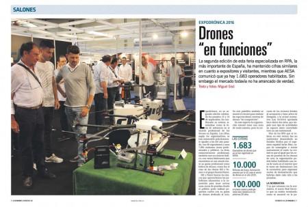 69 expositores y más de 7.000 visitantes en el Salón Expodrónica de 2016.