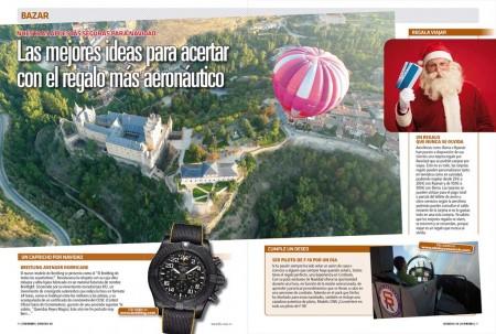 Relojes, vuelos en globo, en avión... son algunos de los regalos aeronáuticos para reyes o cualquier ocasión.