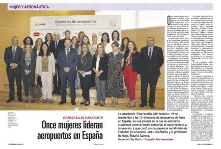 Once mujeres al frente de aeropuertos españoles de la red de Aena.