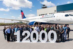 Entrega del Airbus número 12.000.º