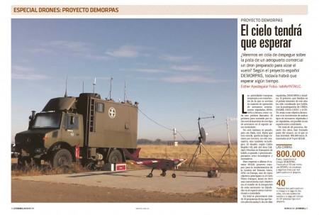 Salamanca ha sido el aeropuerto base desde el que un grupo de empresas españolas han llevado a cabo un primer ensayo en nuestro país de integración de un RPA en el espacio aéreo controlado volando cerca de una aeronave tripulada.