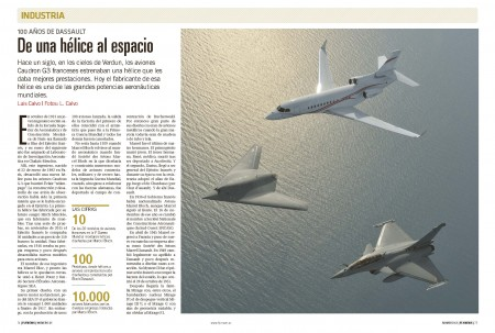 El primer producto que diseñó Marcel Dassault (entonces Marcel Bloch)  hace 100 años fue una hélice.