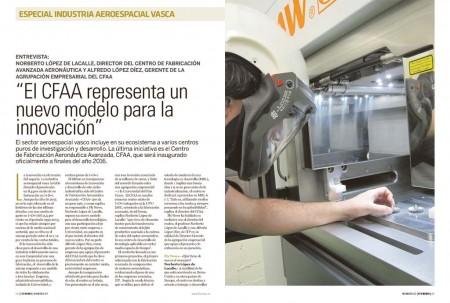 Norberto López de Lacalle, director del Centro de Fabricación Avanzada Aeronáutica y Alfredo López Díez, gerente de la agrupación empresarial del CFAA responden a nuestras preguntas sobre este centro que está a punto de inaugurarse.