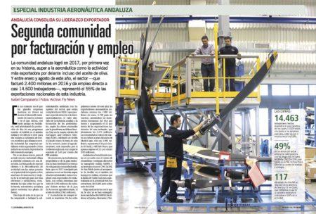 Más de 14.500 personas trabajan directamente en alguna de las empresas que forman el entramado aeronáutico en Andalucía.