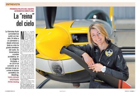 Aude Lemordant vuela como piloto para Air France, pero también es bicampeona del mundo de vuelo acrobático.