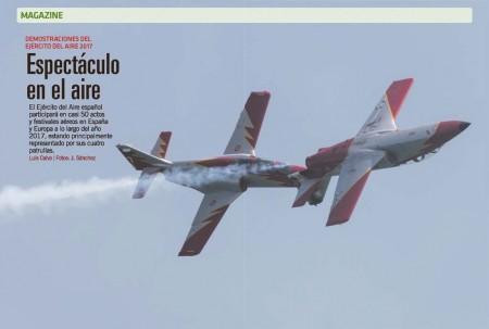 Las cuatro patrullas de demostración del Ejército del Aire español realizarán más de 60 actuaciones entre  junio y diciembre de 2017.