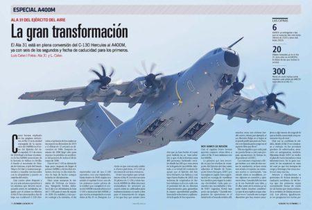 El Ala 31 del Ejército del Aire español tiene ya seis A400M, con otro que llegará antes de fin de año.