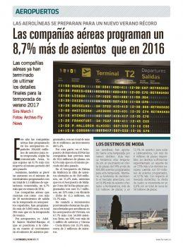 Más frecuencias, más rutas y mas asientos este verano en los aeropuertos españoles.