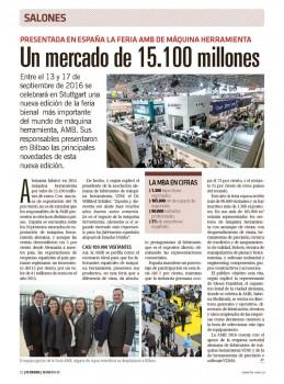 Hemos estado en la presentación en Bilbao de la feria más importante del mundo de máquina-herramienta.