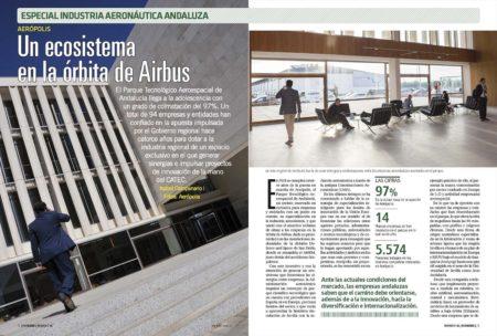 14 años después de ponerse en marcha, Aerópolis concentra el 38 por ciento del empelo aeroespacial andaluz.