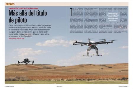 Según la actividad profesional que queramos desarrollar con un drone tendremos que volarlo de una forma u otra y usar unos sistemas especializados.