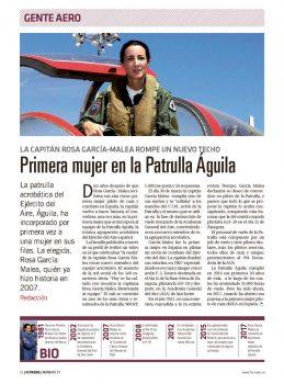Rosa García Maleo ha vuelto al C-101 en el que se formó, ahora como instructora e integrante de la Patrulla Águila.