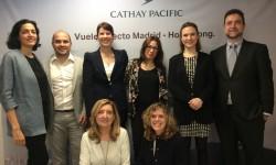 El equipo de Cathay Pacific en sus recién estrenadas oficinas de Madrid.