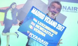 Michael O´Leary, CEO de Ryanair en la presentación de la nuevas rutas de Ryanair para la próxima temporada. Foto: Fly News