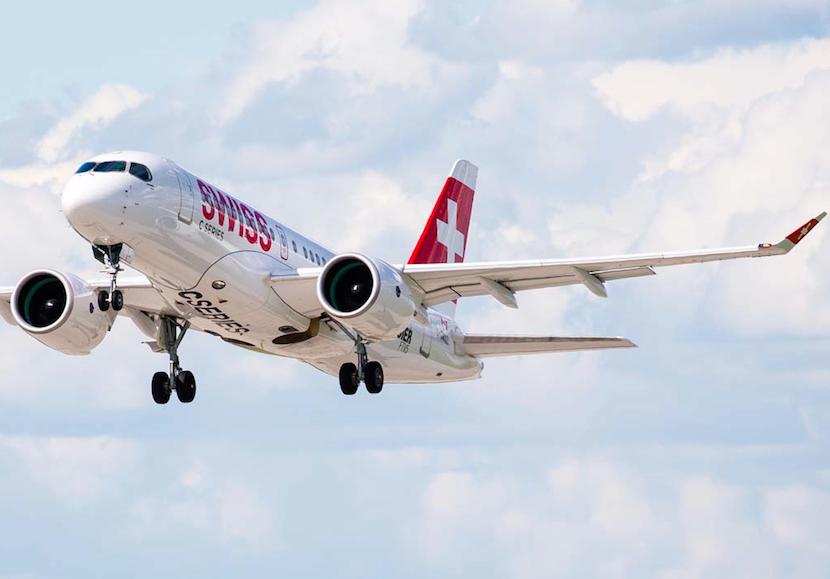 Swiss se convirtió en el primer operador del Bombardier CS100 el 17 de junio.