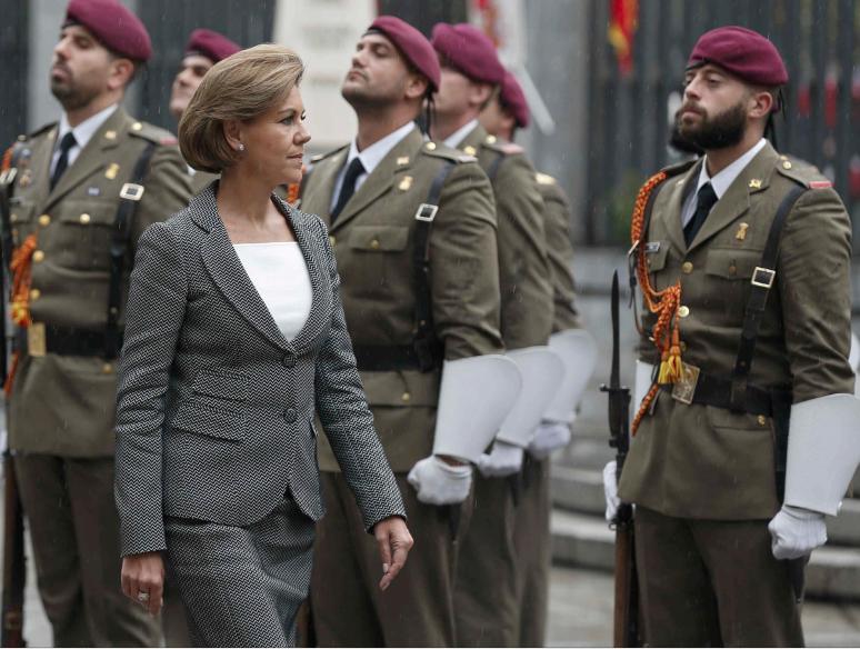 María Dolores de Cospedal es la segunda mujer al frente del ministerio de Defensa.