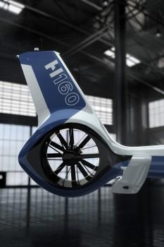 Detalle del nuevo fenestron del Airbus Helicopters H160.