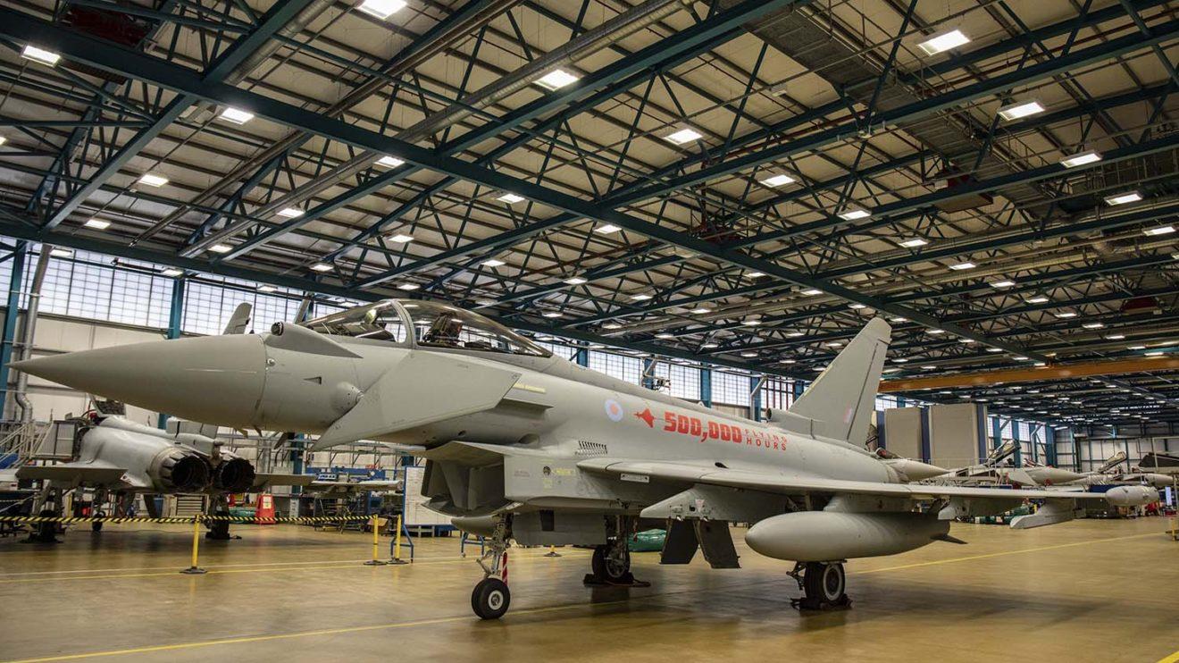 Último de los Typhoon recibidos por la RAF hasta ahora, en la base aérea de Coningsby.
