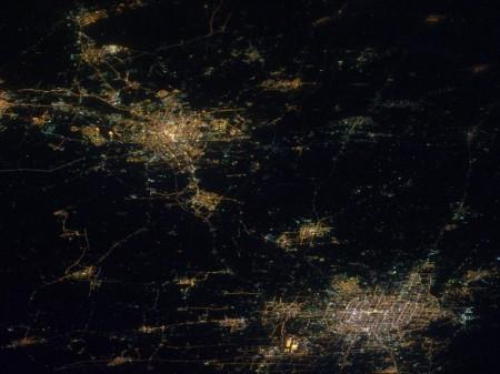 Pekin y Tianjin desde la ISS