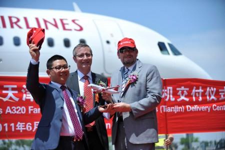 Entrega del A320 número 50 montado en China