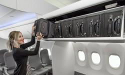 Seis maletas de 23 cm x 36 cm x 56 cm es la capacidad de los nuevos armarios para el Boeing 737.