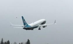 Despegue del Boeing 737 MAX 8 en su vuelo inaugural.