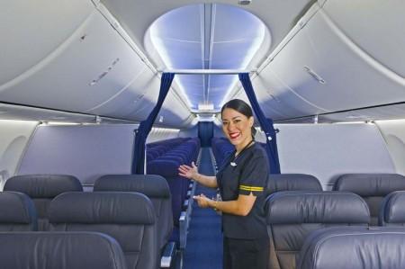 El B-737 MAX contará con la cabina Sky Interior que ya se ofrece con la actual generación del B-737.